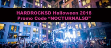 Hard Rock Halloween 2018 Promo Code NOCTURNALSD Gaslamp San Diego event party discount sale hotel room vip
