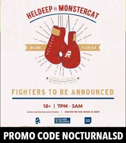 Heldeep vs Monstercat 2018 Discount Promo Code Miami Music Week