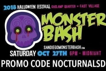 Monster Bash Promo Code Nocturnalsd Halloween Gaslamp San Diego 2018 things to do for halloween in san diego