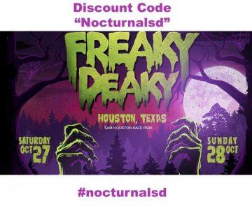 Freaky Deaky Ambassador Code Nocturnalsd Houston Halloween 2018 Discount Promo rave music festival sam houston something wicked 2018