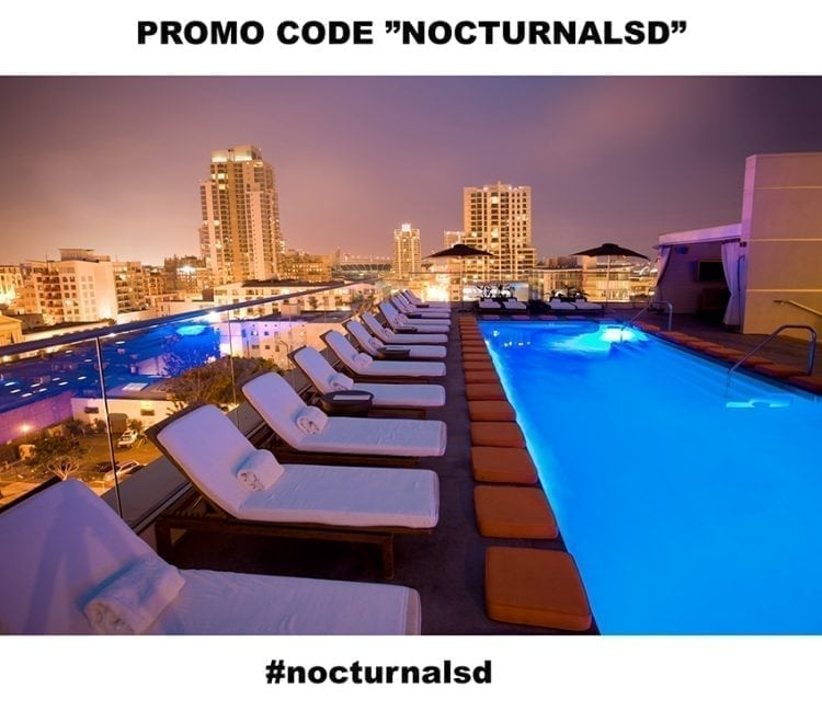 andaz san diego guest list promo code discount coupon free entry vip pool