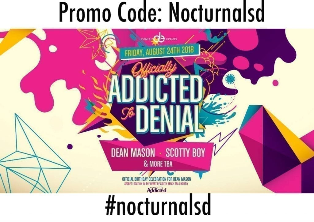 denial events promotional code discount secret location miami rave 2018