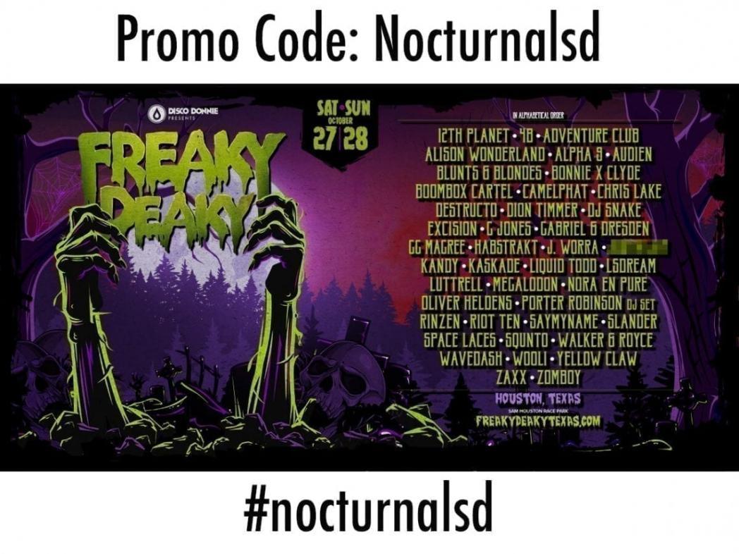 freaky deaky promo code - sam houston race park halloween