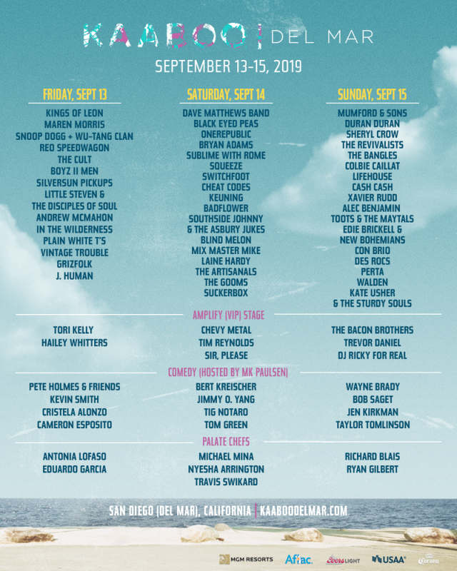 Kaaboo Del Mar 2019 Discount Tickets