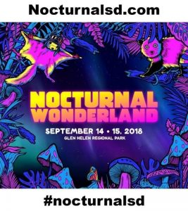 Nocturnal Wonderland 2018 Tickets for Sale Discount, insomnaic, 18 and up, 18+, 21+, rave music festival, lineup, promo code coupon free, lineup set times