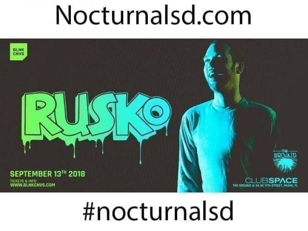 Rusko Club Space Miami 2018 Discount Tickets 18 and up events miami