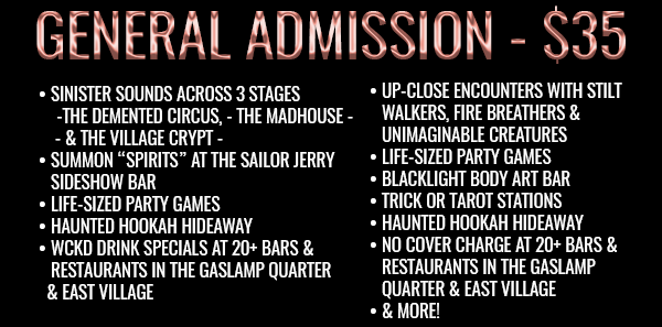 WCKD Village festival General Admission Ticket