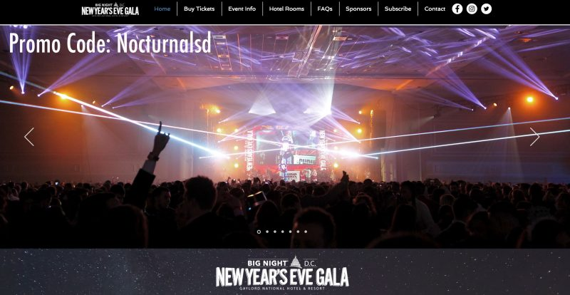 washington dc nye gaylord national hotel discount package tickets