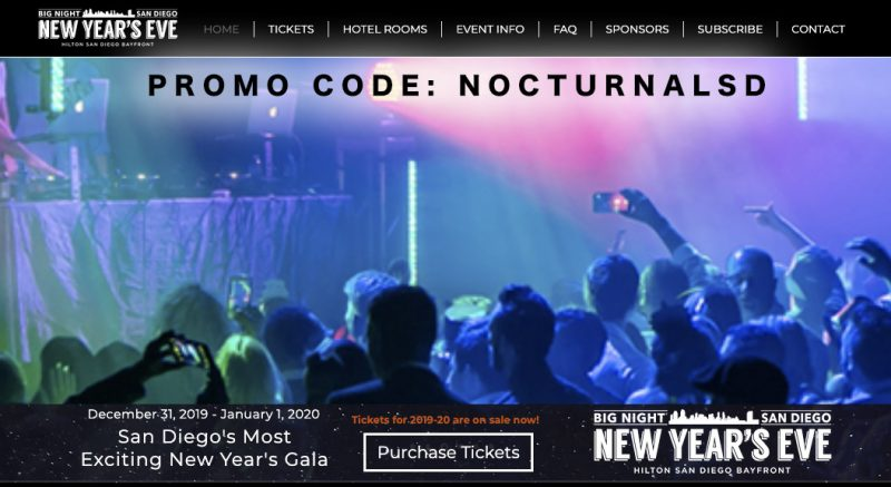 Big Night San Diego NYE Promo Code