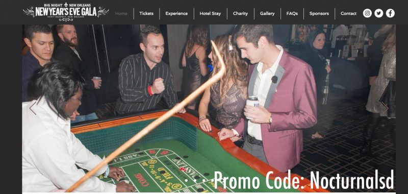 gambling casino nye new orleans big night nye gala