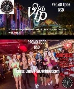 San Diego Gaslamp bar crawl club hop pub halloween 2018