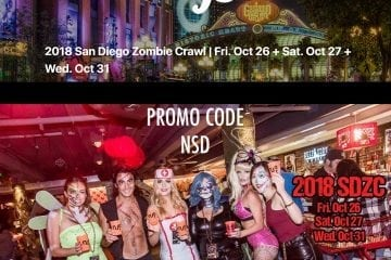 San Diego Gaslamp bar crawl club hop pub halloween 2018