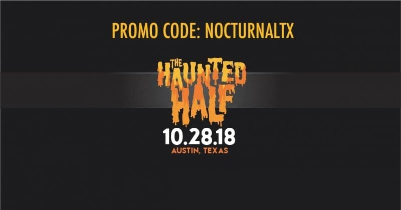 Haunted half marathon halloween austin run runners registration facebook discount gift card promo code
