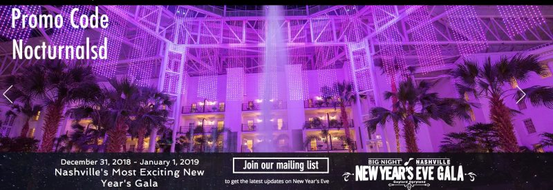 nye 2019 nye 2018 nashville Tennessee top biggest best event big night gala