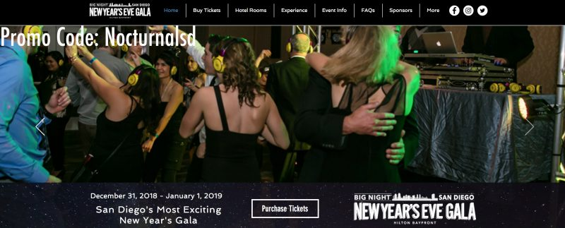 big night san diego new years eve party hotel venue directions location