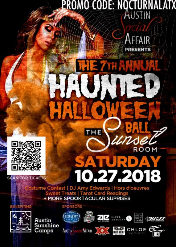 Austin Social Affair 7th Annual Haunted Halloween Ball Sunset Room 2018