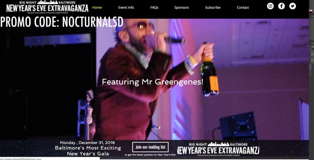 big night gala baltimore mr greengenes discount promo code tickets