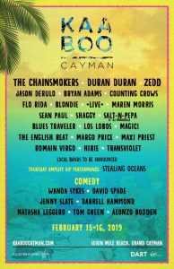 Kaaboo Cayman Lineup 2019, Music Festival, artists