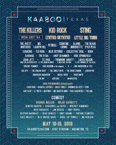 KaabooTexas Lineup 2019