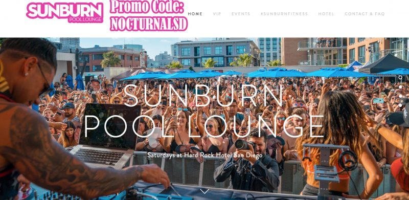 sunburn lounge san diego pool hard rock discount