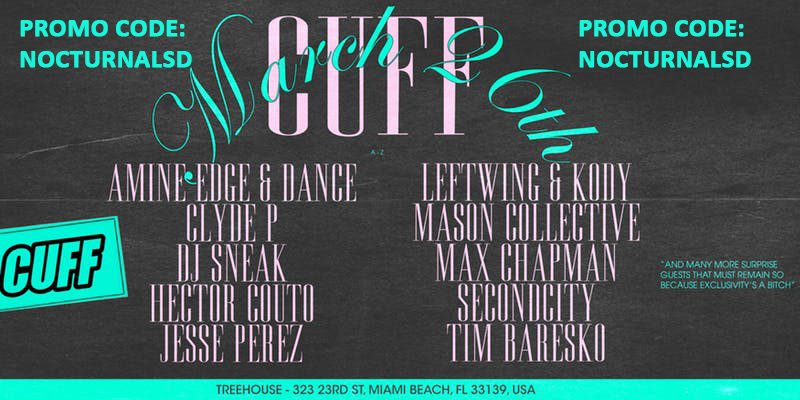 CUFF Miami Music Week 2019 Discount Promo Code, MMW 2019, VIP Passes,