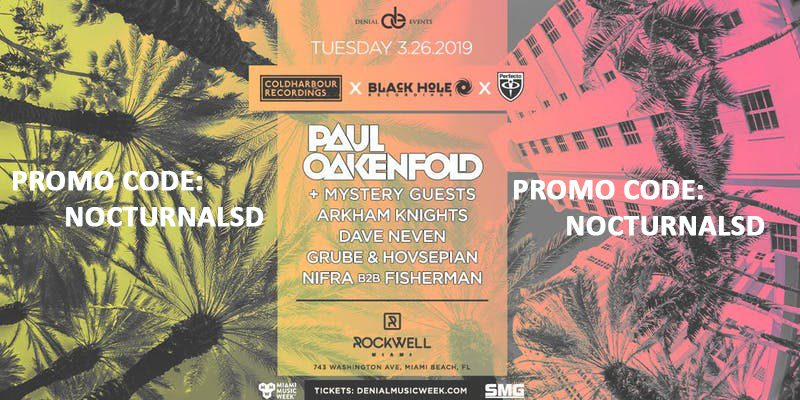 Coldharbour Black Hole Perfecto MMW Promo Code 2019, Paul Oakenfold, Miami Music Week 2019, VIP Passes, Discount, Free Entry