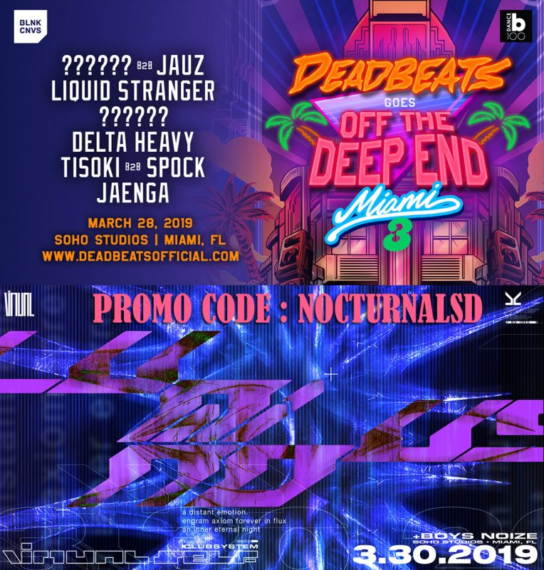Dead Beats Miami Music Week 2019 Discount promo Code coupon shows free tickets entry