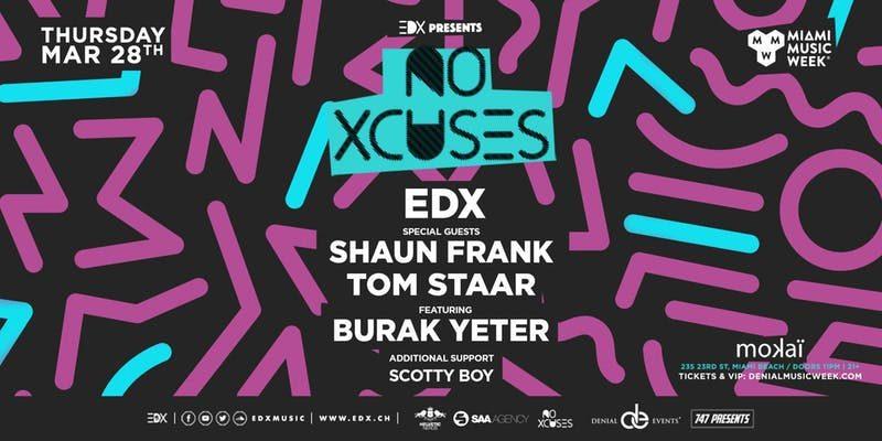 EDX presents No Xcuses MMW Promo Code 2019, Mokai Lounge, MMW 2019, Free Passes, VIP