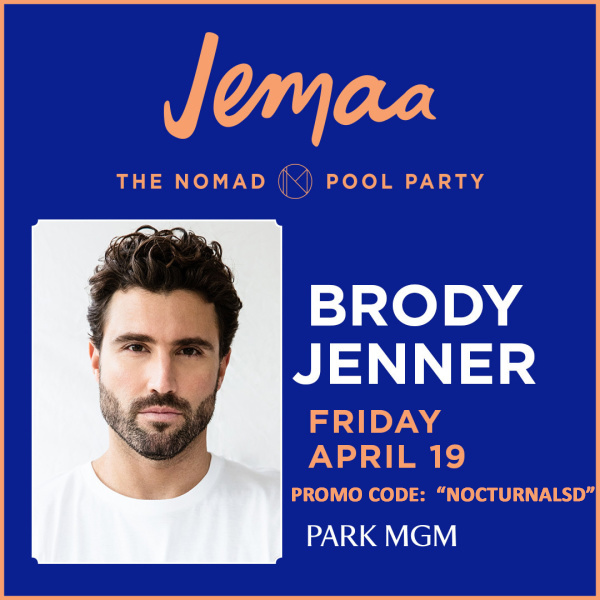 Brody Jenner Jemaa Pool Discount Tickets, The Nomad Pool Party, Park MGM, Las Vegas Strip, Summer Pool Parties, VIP Passes, Cabanas, Guest List, Free Entry