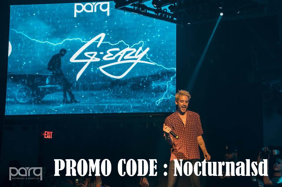 Parq Promo Code G eazy tickets