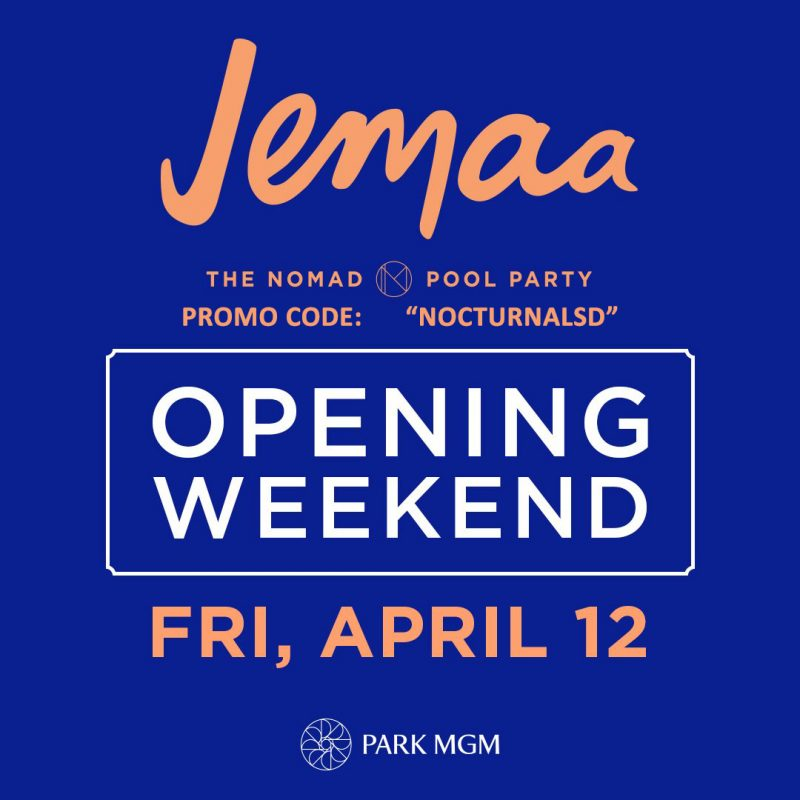 Jemma Nomad Pool Party Park MGM Las Vegas Discount Passes, Las Vegas Strip, Discount Promo Code, Summer Pool Party, Cabanas, VIP Passes, Free Entry, Guest List