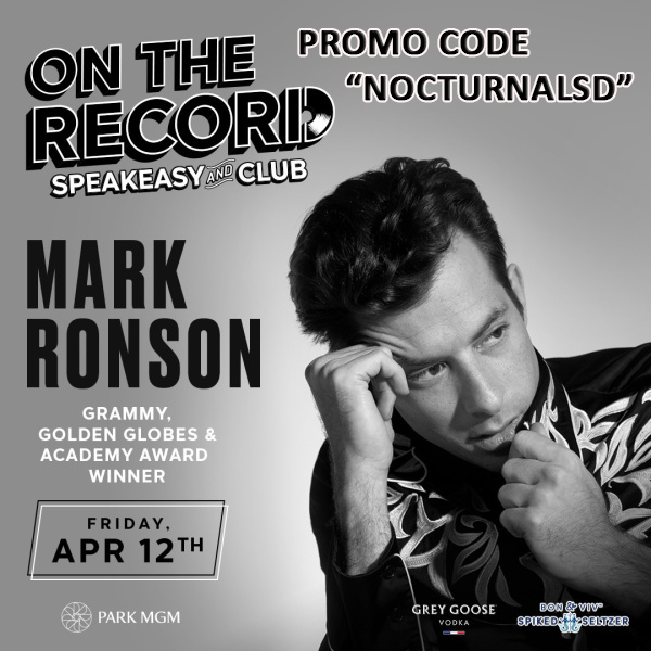 Mark Ronson Discount Tickets, Vegas Strip, Vegas Club