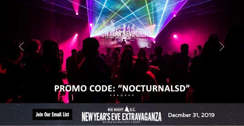 Discount Big Night DC NYE Tickets