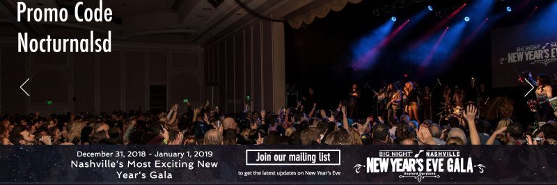 Discount Big Night Nashville NYE Tickets