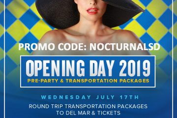 Opening Day Del Mar Party Bus Discount 2019
