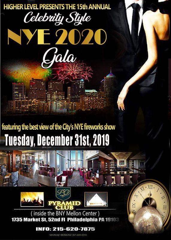 NYE Celebrity Style Fireworks Gala Philadelphia 2020