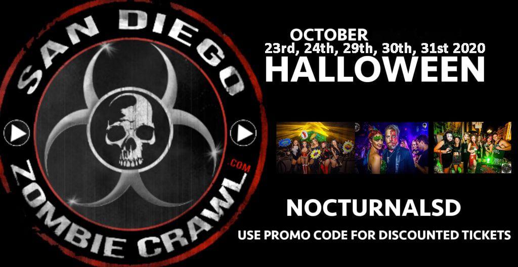 San Diego Zombie Crawl Promo Code, pub club bar hop, halloween san diego 2020, top best tours gaslamp downtown, club vip, Best Pub Crawls
