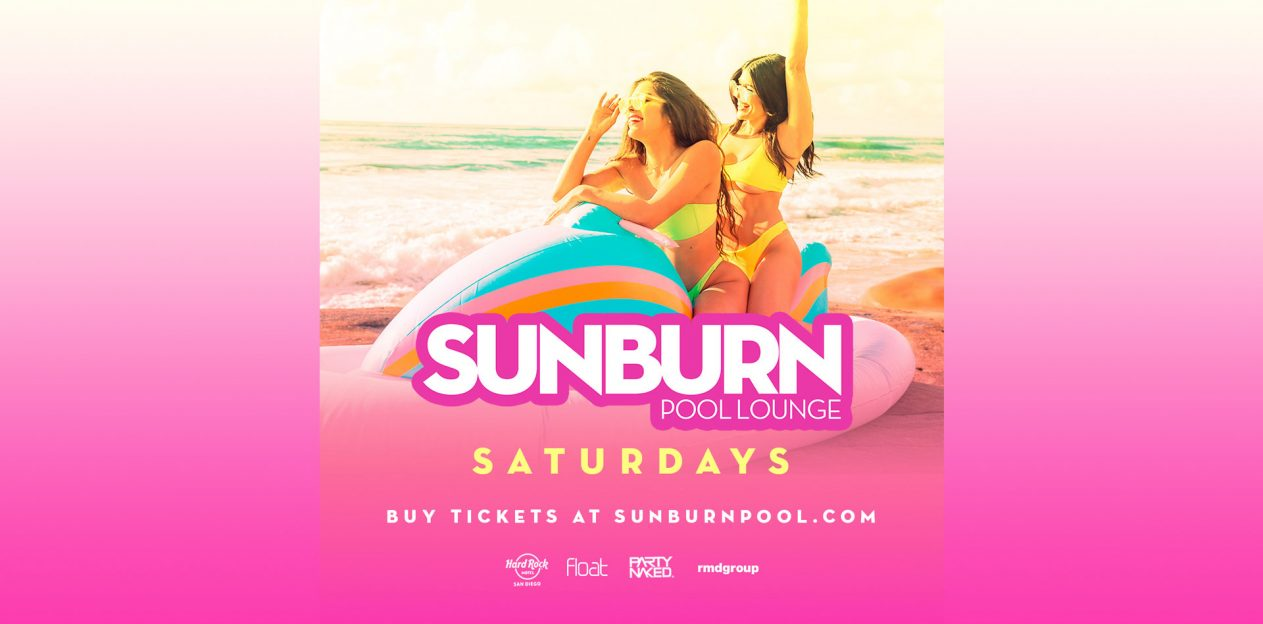 Sunburn Pool Promo Code, Sunburn Lounge Party, Hard Rock Hotel San Diego, Discount Tickets, VIP Services, Sunburn Pool Lineup, Float Rooftop