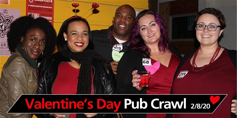 Valentines Day Colors Crawl 2020 Sacramento Promo Code, Beer Tasting, Bar Hop, Midtown Sacramento, Best Pub Crawls, Valentine's Day, Discount