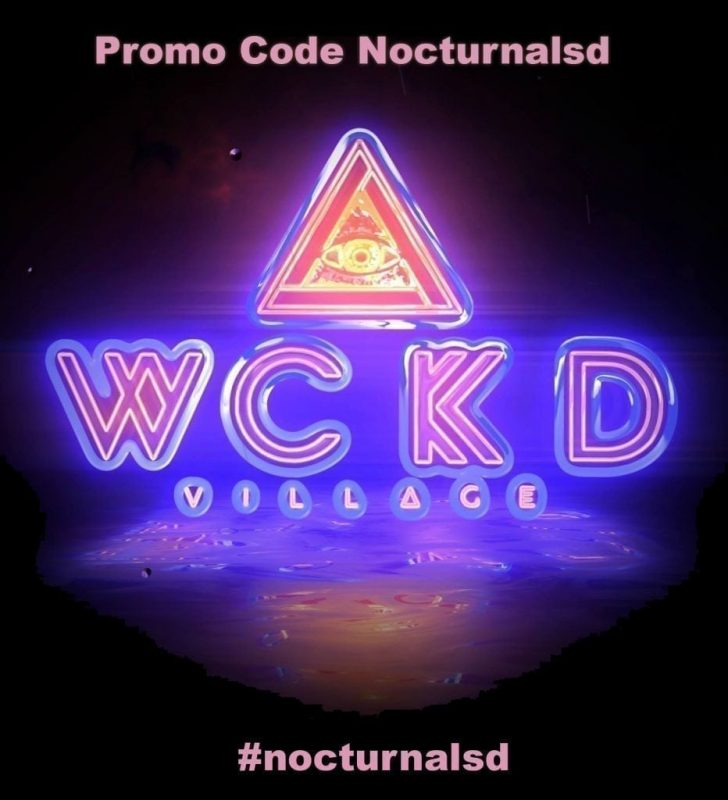 WCKD Village Promo Code, 2020, discount tickets, military, student, gaslamp, easy village, set time, lineup, stage map, Monster Bash, VIP Pass