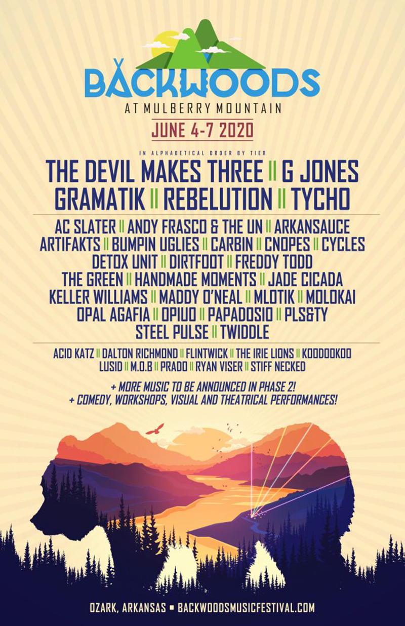 Backwoods Music Festival Lineup Promo Code, Backwoods Festival 2020 Promo Code, Music Festival, Mulberry Mountain, Discount Tickets, VIP Passes, GA Passes. Backwoods Lineup, Arkansas
