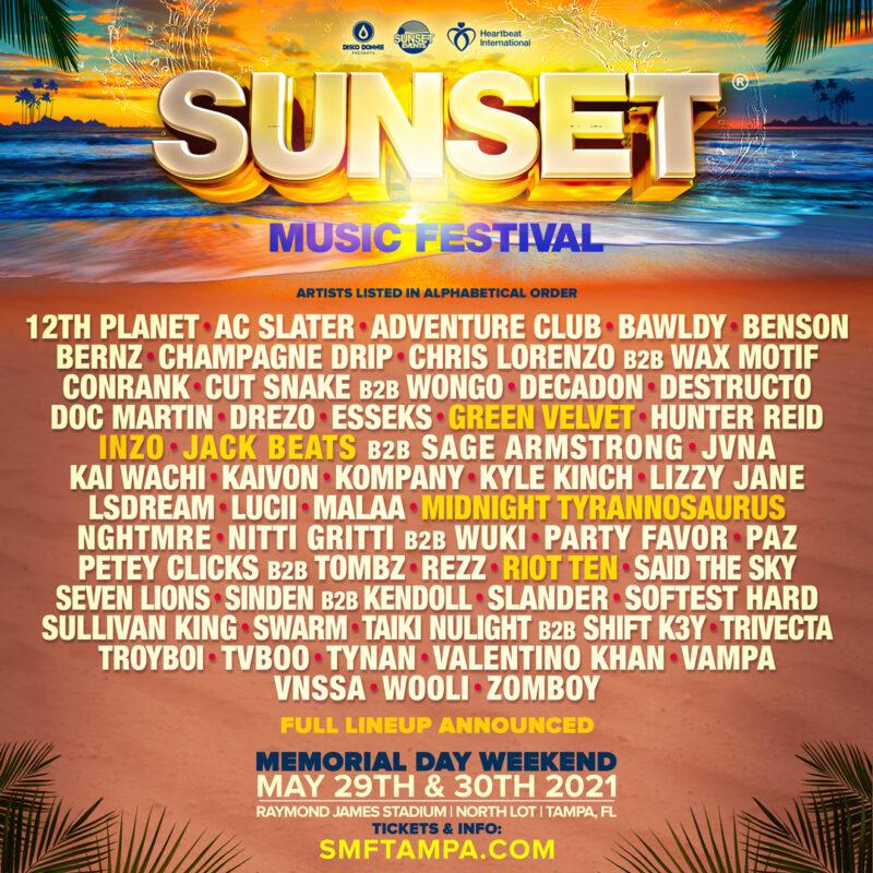 Sunset Music Festival Promo Code, SMF 2021, Tampa FL, Florida, Discount Tickets, VIP Passes, GA, Raymond James Stadium, Concert, Lineup, Hotels